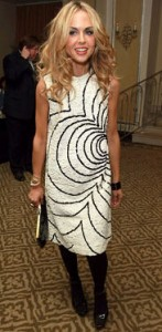 Rachel Zoe copied black white vintage dress