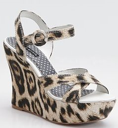 Leopard Print Canvas Wedge Alice + Olivia