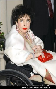 Elizabeth taylor wheelchair