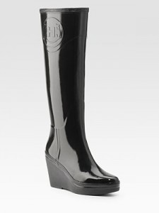Hunter Wedge Rain Boots saks