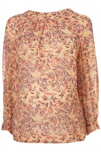 Maternity feather print blouse topshop