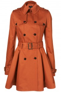 tangy peach trench coat topshop
