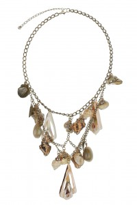 Shell layer necklace chain Topshop