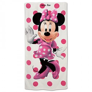 minnie mouse beach towel disney