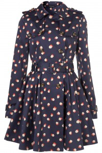 Topshop smudged dot trench