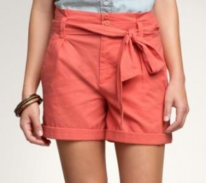 paper bag waist shorts gap