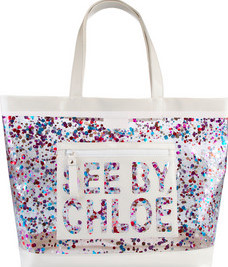 see by chloe patent tote bag