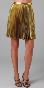Eli Tahari Francesca gold lame skirt