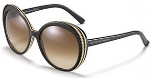 alexander mcqueen round etched frame sunglasses