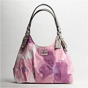 Madison Maggie floral shoulder bag coach