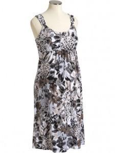 old navy maternity grey jersey floral dress