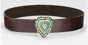 turquoise heart belt melamed