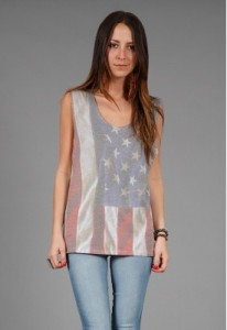 american flag tee tank as is singer22