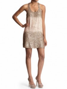 parker sequin racerback dress
