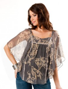 hale bob maternity blouse sheer flutter sleeve