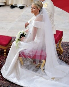 Charlene-Wittstock-Princess-Charlene-Wedding-Dress monaco