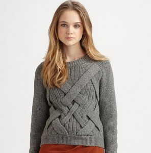 cable knit pullover phillip lime 3.1