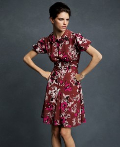 floral print dress karl lagerfeld